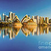 Sydney Skyline With Reflection Poster