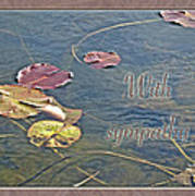 Sympathy Greeting Card - Autumn Lily Pads Poster