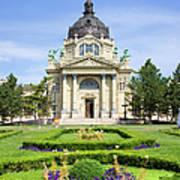 Szechenyi Baths In Budapest Poster