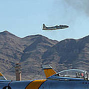 T-33 Shooting Star Flight Over Two Sabre's Poster