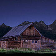 T. A. Moulton Homestead Barn At Night Poster