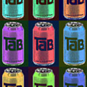 Tab Ode To Andy Warhol Black Poster