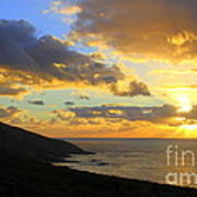 Table Mountain South Africa Sunset Poster
