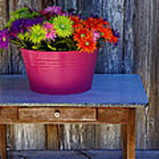 Table Top Flowers Poster