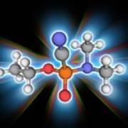 Tabun Chemical Compound Molecule Poster