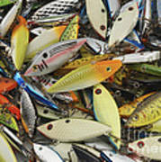 Tackle Box Tangle Poster by Jerry McElroy