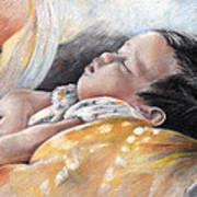 Tahitian Baby Poster