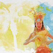 Tahitian Dancer Poster