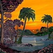 Tahitian Sunset Poster