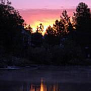 Tahoe Keys Sunrise Poster