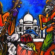 Taj Mahal Dancers Poster