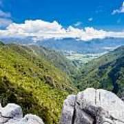 Takaka Hill Limestone Outcrops Takaka Valley In Nz Poster