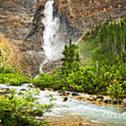 Takakkaw Falls Waterfall In Yoho National Park Canada Poster