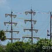 Tall Ship Mast Charleston  Poster