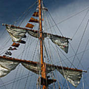 Tall Ship Mast Poster by Suzanne Gaff