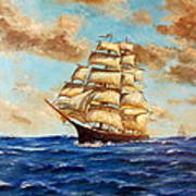 Tall Ship On The South Sea Poster