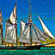 Tall Ship Paint  Poster