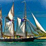 Tall Ship Vignette Poster