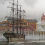 Tall Ship Waterfront Poster