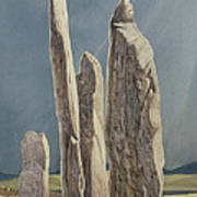 Tall Stones Of Callanish Isle Of Lewis Poster by Evangeline Dickson