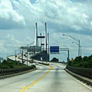 Talmadge Memorial Bridge In Savannah Georgia  Poster
