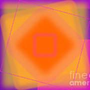 Tangerine And Orange Squares Poster