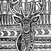 Tangled Deer Poster