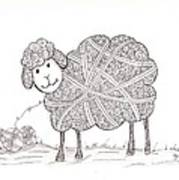 Tangled Sheep Poster