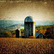 Tanner Hill Farm In The Fall Connecticut Usa Poster