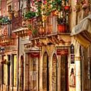 Taormina Balcony Poster