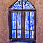 Taos Pueblo Church Window Poster