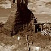 Taos Pueblo Graveyard Poster