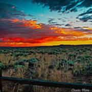 Taos Sunset Xi Poster