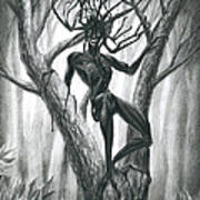 Tar Girl In A Tree Poster
