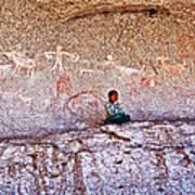 Tarahumara Boy In Painted Cave Near Chihuahua-mexico Poster