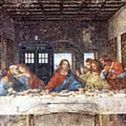 Tardis V Leonardo Da Vinci Poster