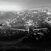 Target Tirpitz In Sight Black And White Version Poster