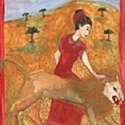 Tarot 11 Strength Poster