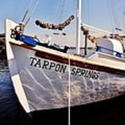 Tarpon Springs Spongeboat Poster by Benjamin Yeager