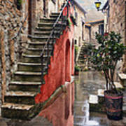 Tarquinian Red Stairs Poster
