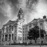 Tarrant County Courthouse Bw Poster