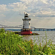 Tarrytown Lighthouse And The Tappan Zee Bridge Poster