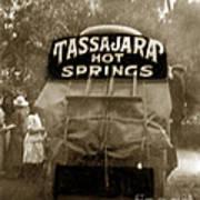 Tassajara Hot Springs Stage Monterey Co. California Circa 1910 Poster