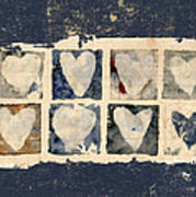 Tattered Hearts Poster by Carol Leigh