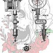 Tattoo Machine Patent Poster by Dan Sproul