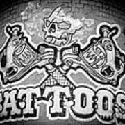 Tattoo Parlor Sign In Rough Neighborhood  Poster