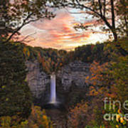 Taughannock Falls Autumn Sunset Poster