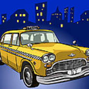 Taxi Cab Poster