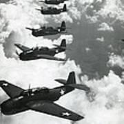 Tbf Torpedo Fighter Bombers Avengers Poster