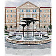 Tcu Frog Fountain Poster